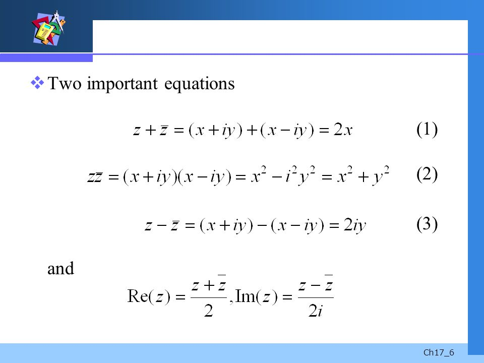 Ch17_6 Two important equations (1) (2) (3) and