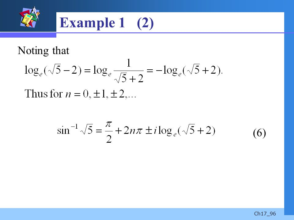 Ch17_96 Example 1 (2) Noting that (6)