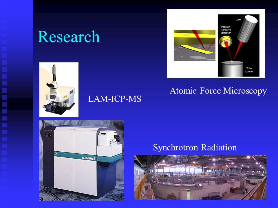 Research Atomic Force Microscopy Synchrotron Radiation LAM-ICP-MS