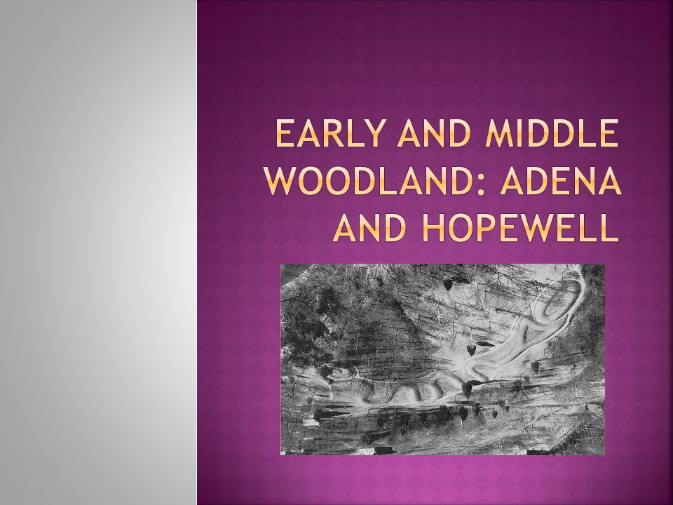The Early Woodland period is an elaboration of Archaic trends.