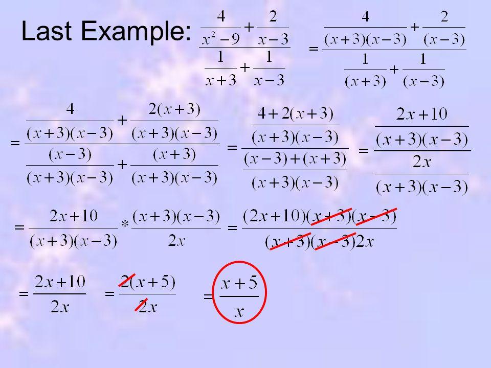 Last Example: