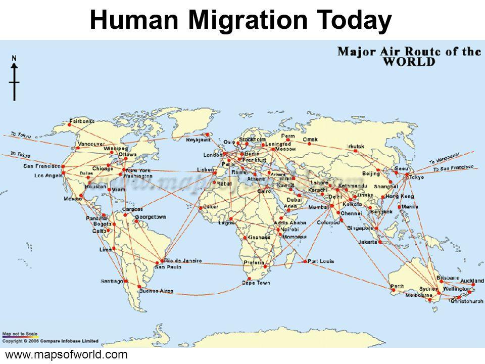 Human Migration Today www.mapsofworld.com
