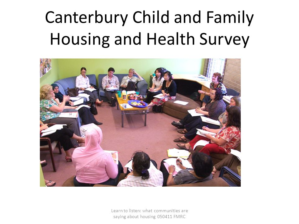 Canterbury Child and Family Housing and Health Survey