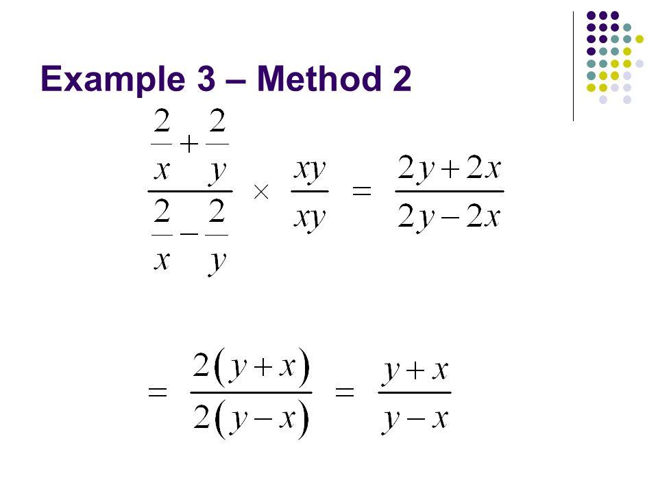Example 3 – Method 2