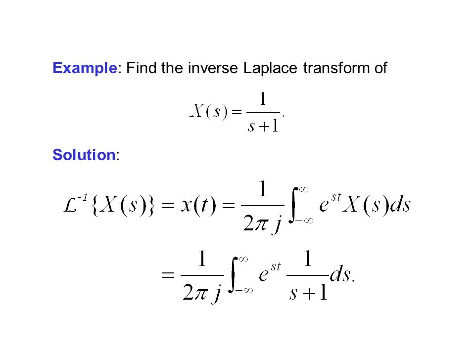 Example: Find the inverse Laplace transform of Solution: