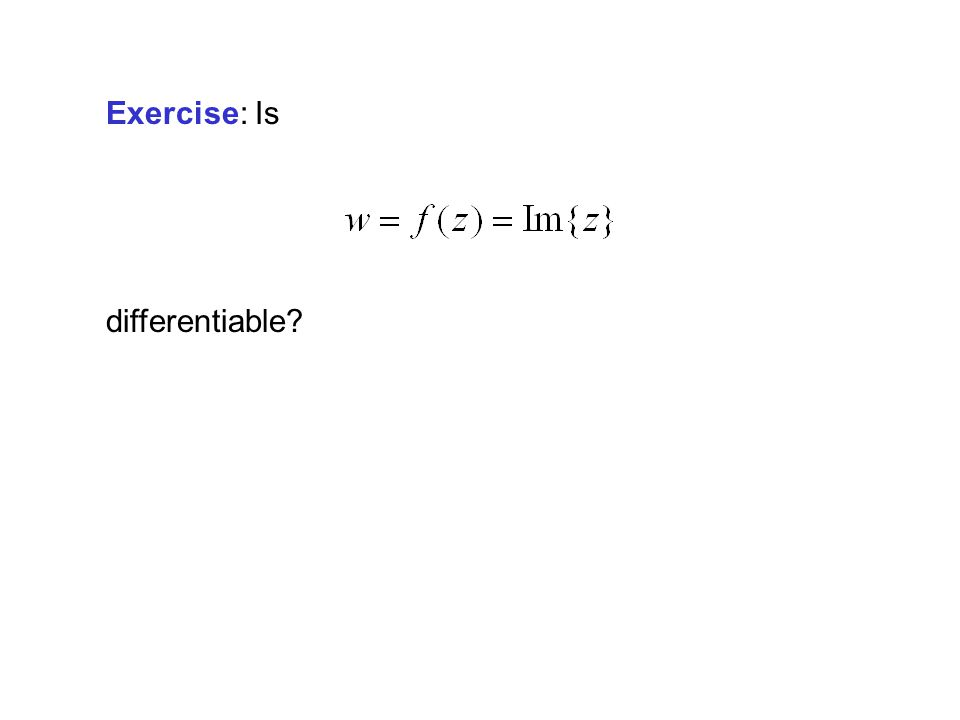 Exercise: Is differentiable?