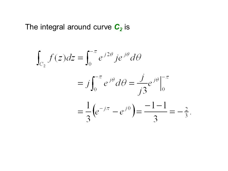 The integral around curve C 2 is