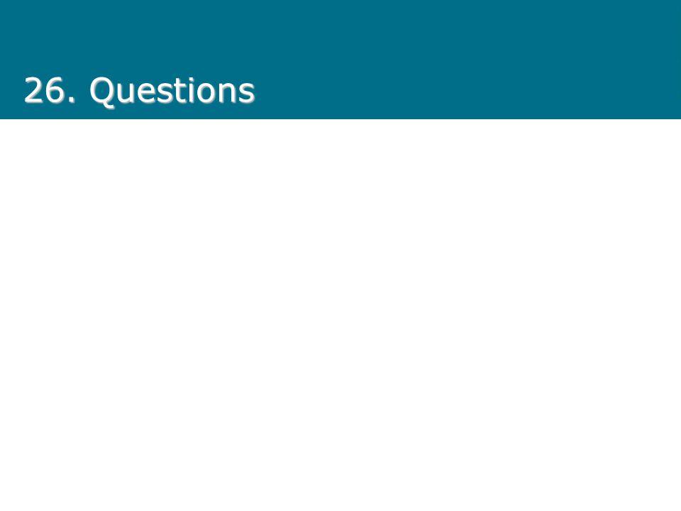 26. Questions