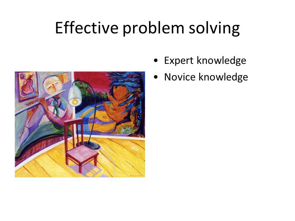 Effective problem solving Expert knowledge Novice knowledge