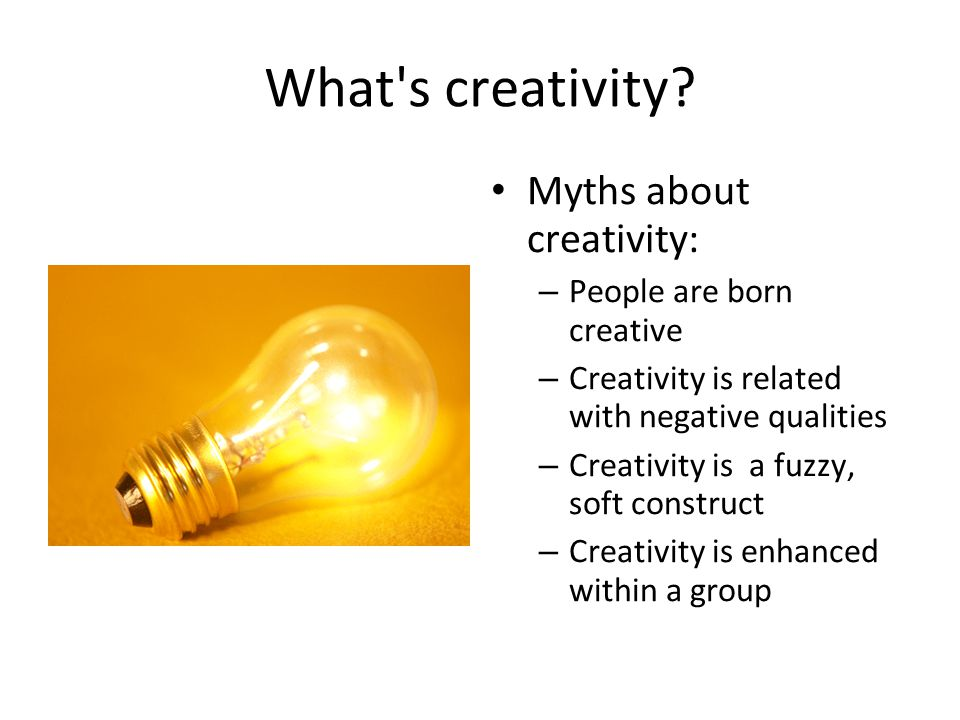 What s creativity.