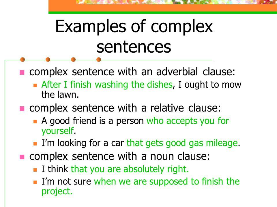 complex sentence examples - alisen berde