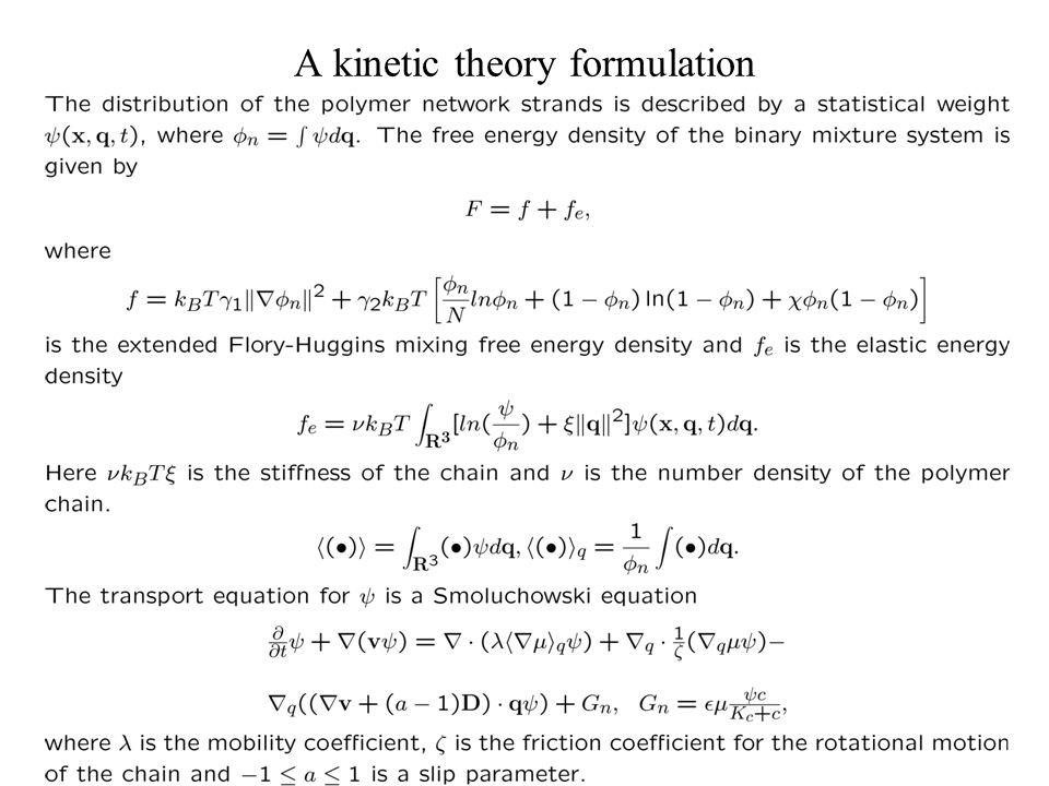 A kinetic theory formulation