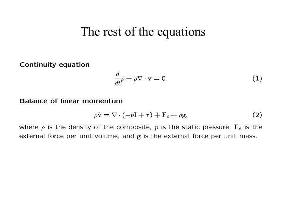 The rest of the equations