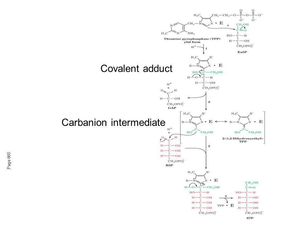 Transketolase Similar to pyruvate decarboxylase mechanism.