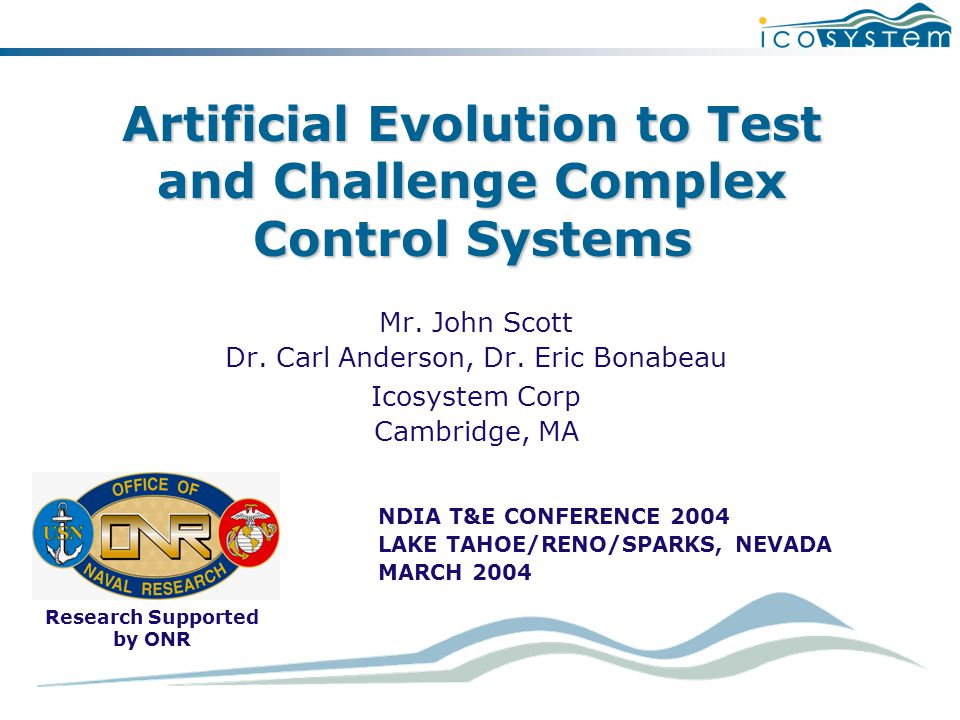 Artificial Evolution to Test and Challenge Complex Control Systems Mr.