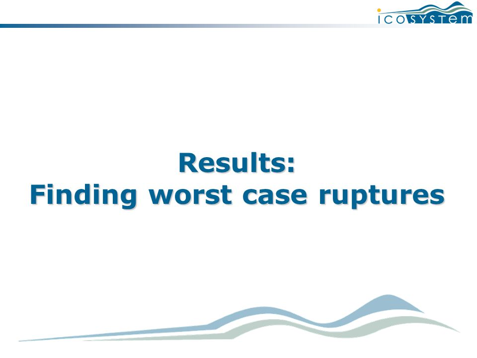 Results: Finding worst case ruptures