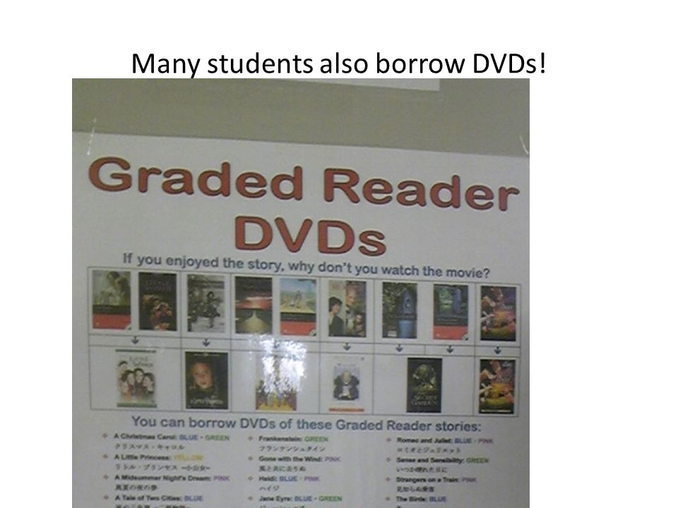 Many students also borrow DVDs!