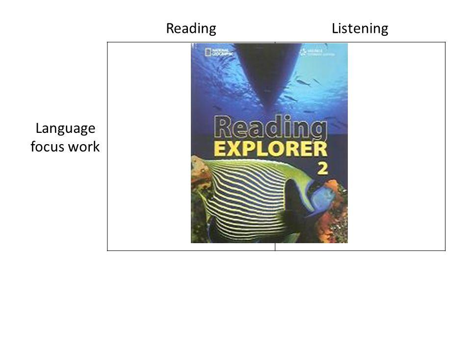 ReadingListening Language focus work