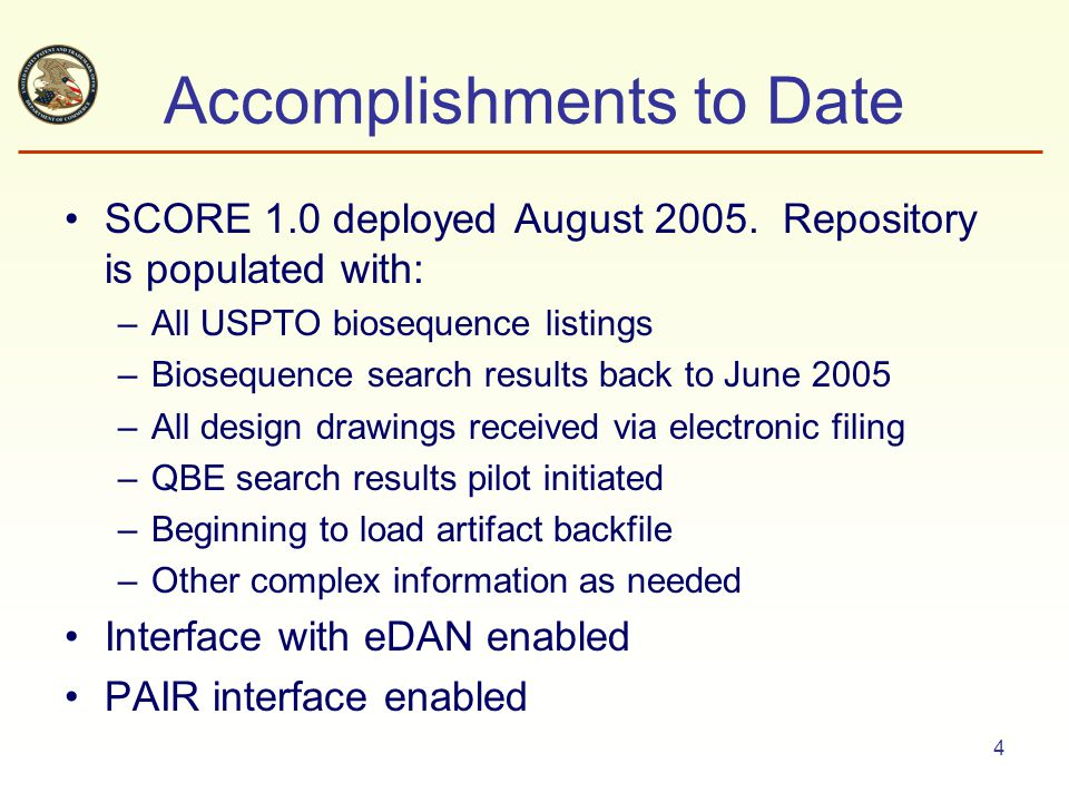 25 ABSS Search Results via PAIR Multiple sequence searches have been performed in this application A results set may be chosen for viewing or download