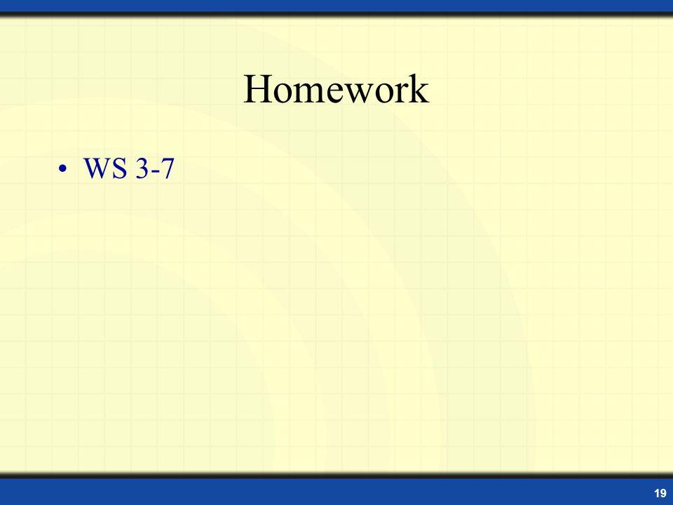 19 Homework WS 3-7