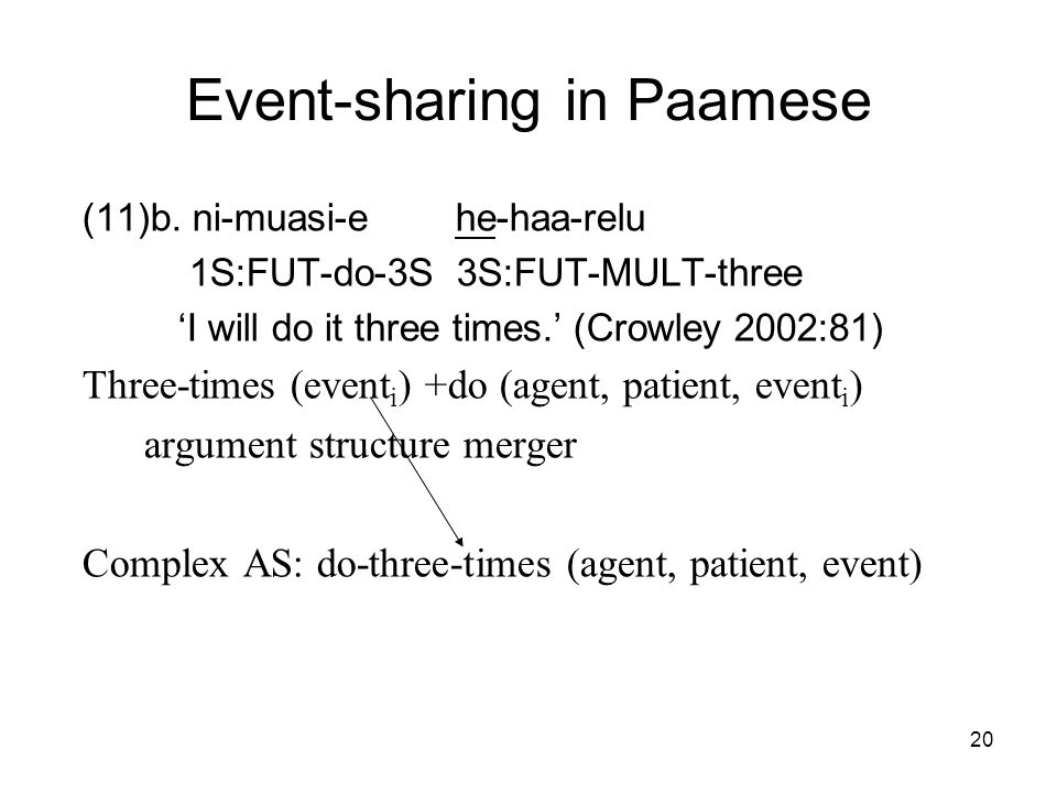 20 Event-sharing in Paamese (11)b.