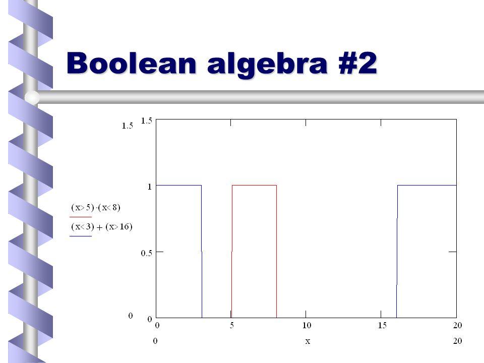 Boolean Algebra False = 0False = 0 True = 1 (or 0)True = 1 (or 0) Use multiplication for ANDUse multiplication for AND Use addition for ORUse addition