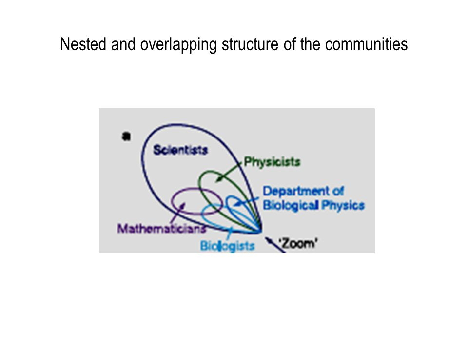 Nested and overlapping structure of the communities