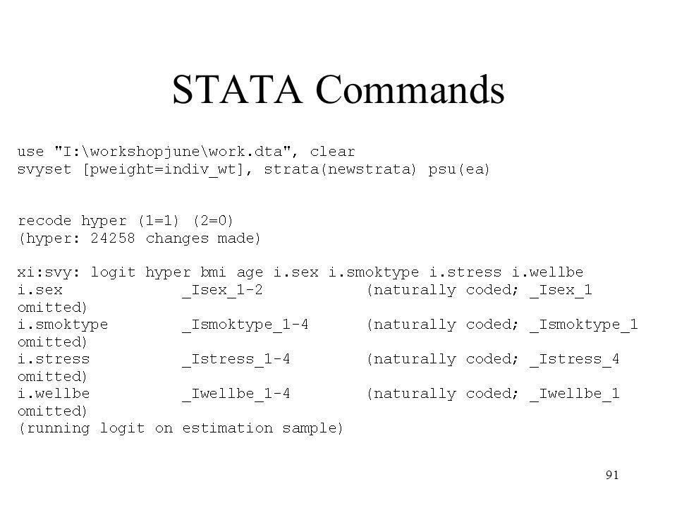 91 STATA Commands