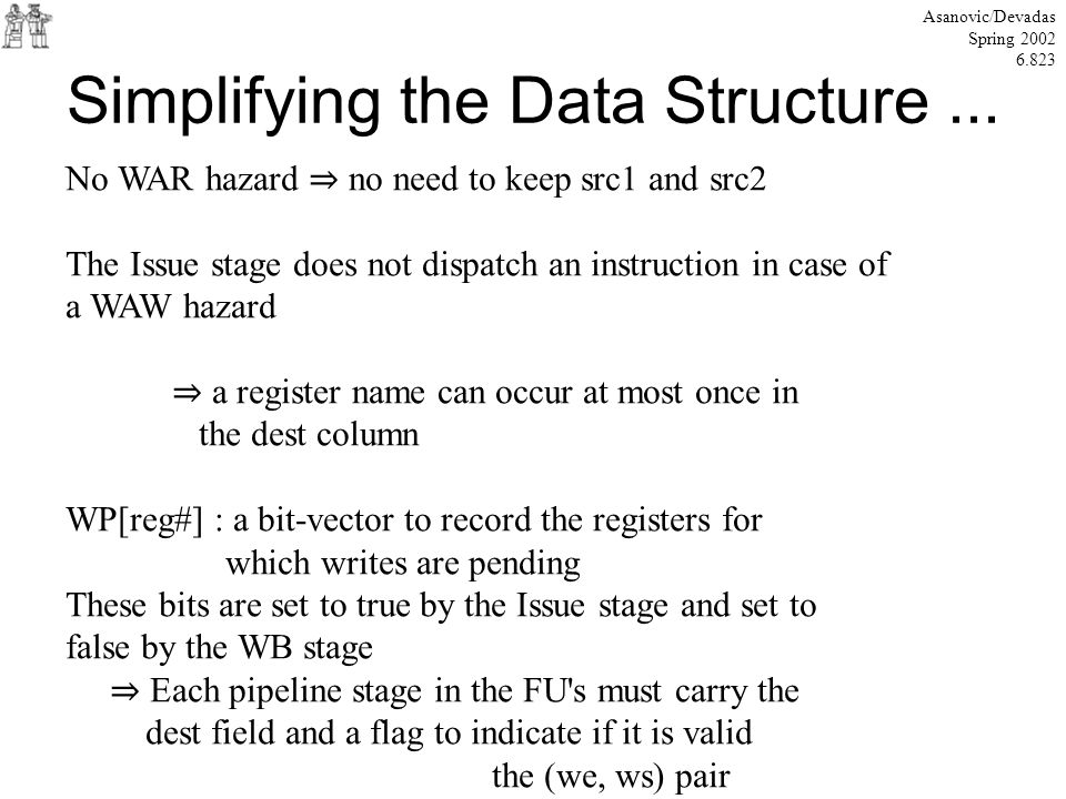 Simplifying the Data Structure...