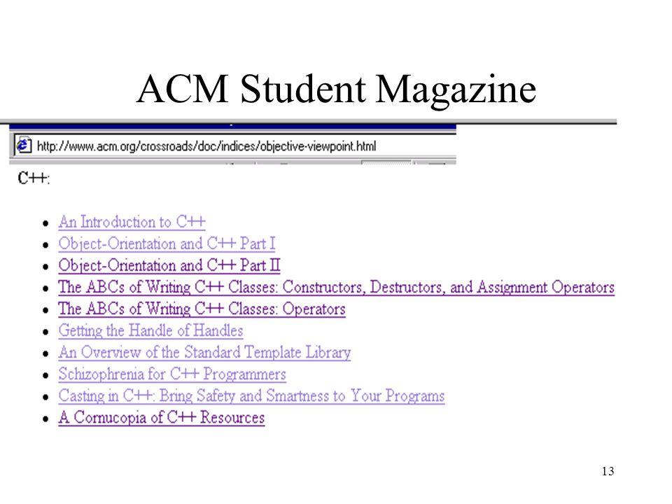 13 ACM Student Magazine