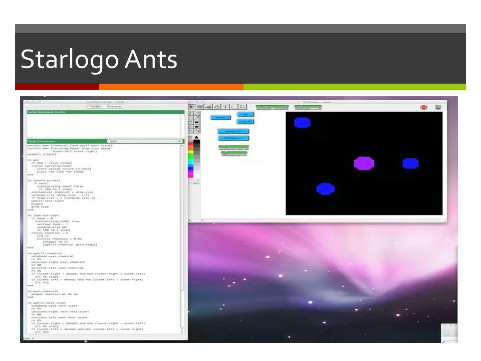 Starlogo Ants