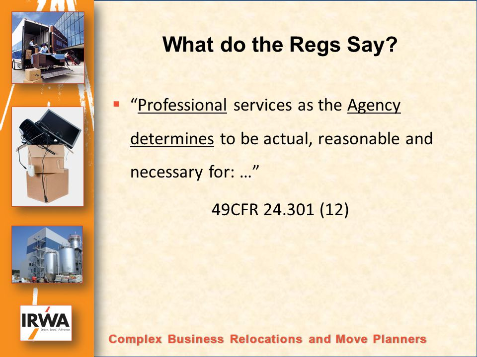 What do the Regs Say.