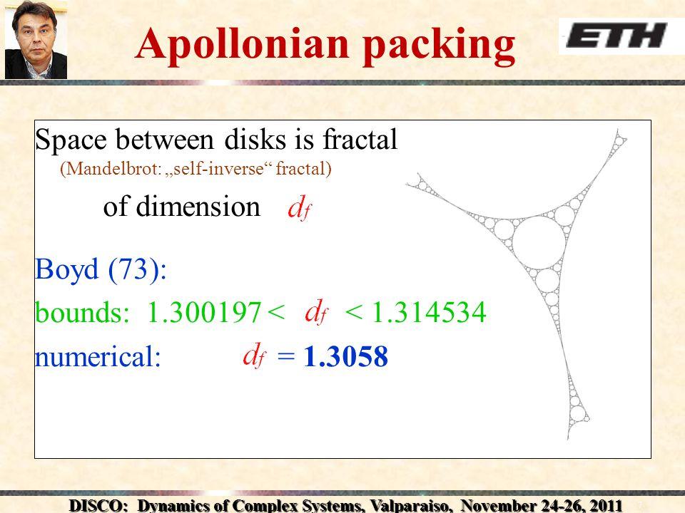 DISCO: Dynamics of Complex Systems, Valparaiso, November 24-26, 2011 Small-world properties Z.