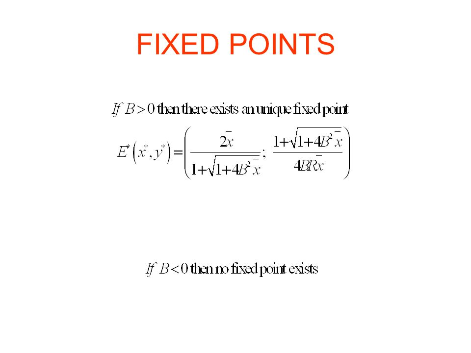 FIXED POINTS
