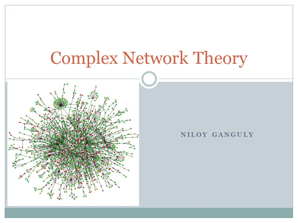 NILOY GANGULY Complex Network Theory