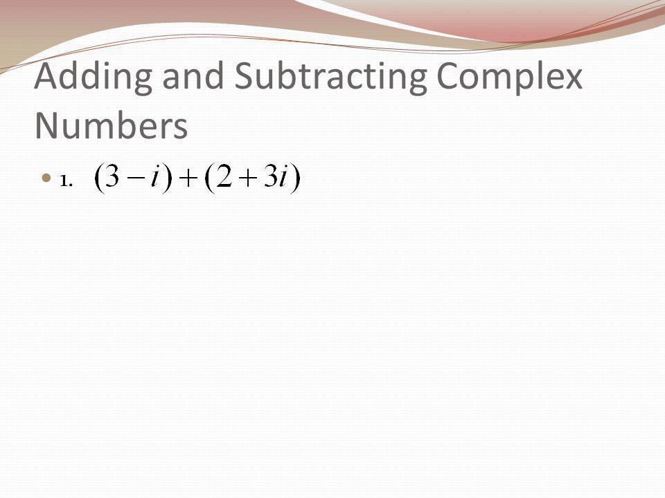 Plotting Complex Numbers