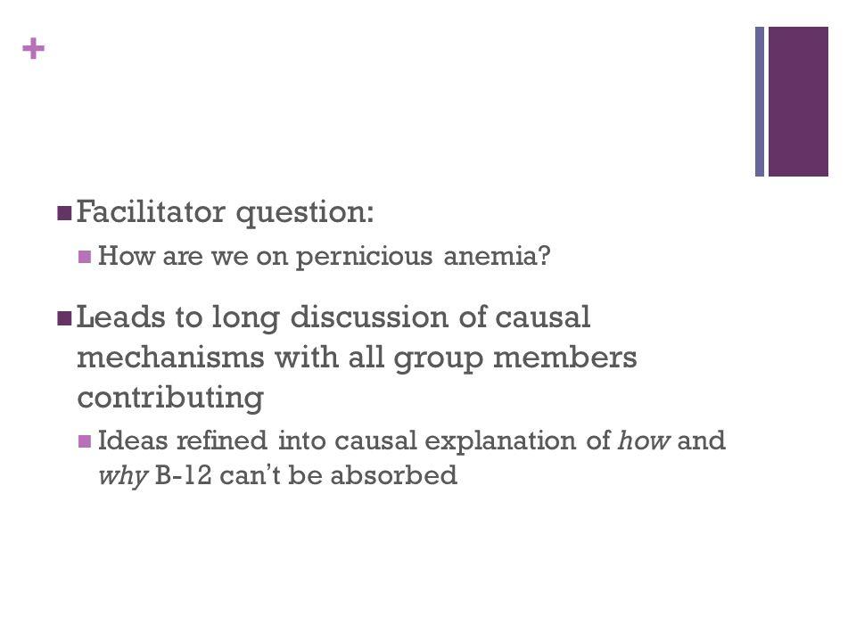 + Facilitator question: How are we on pernicious anemia.