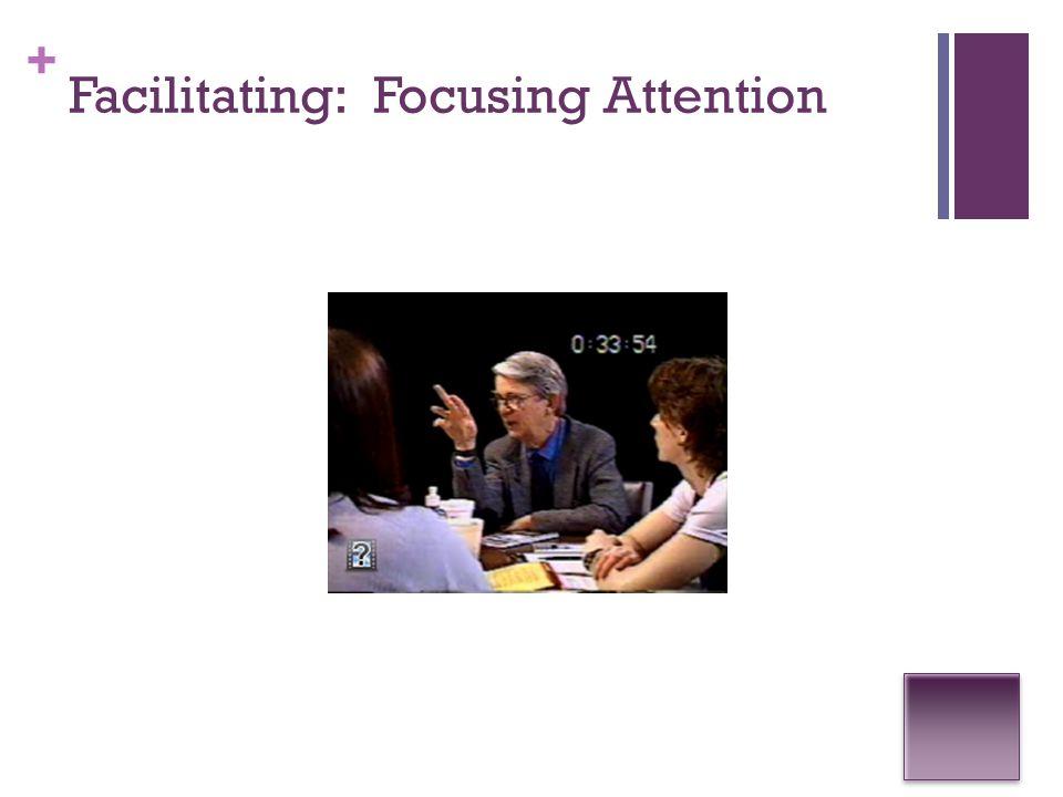+ Facilitating: Focusing Attention