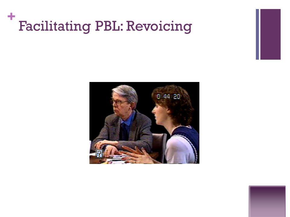 + Facilitating PBL: Revoicing