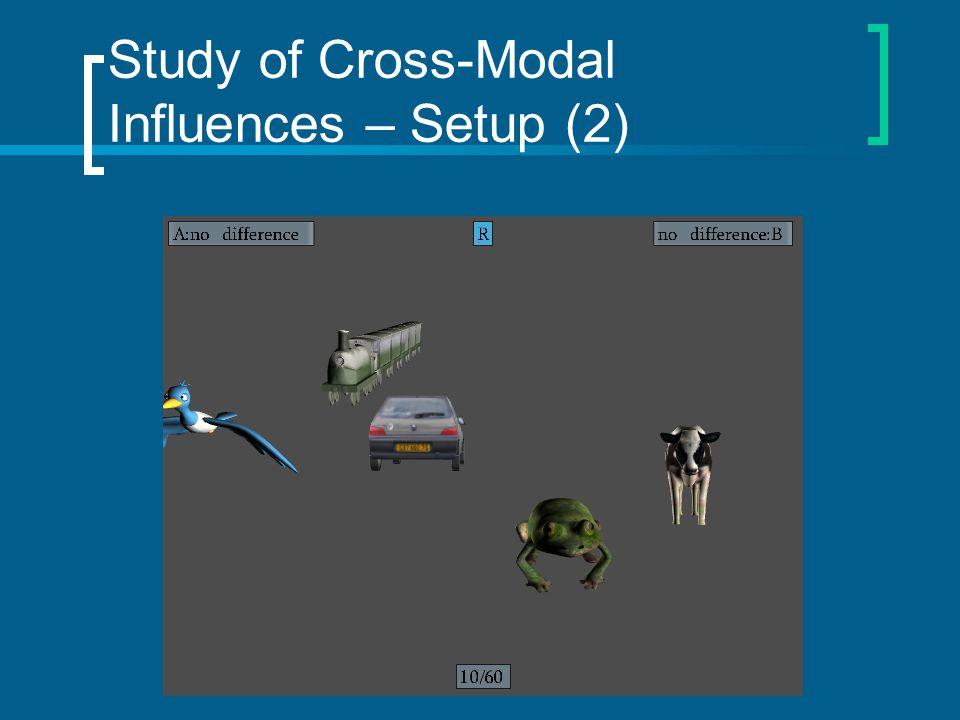 Study of Cross-Modal Influences – Setup (2)