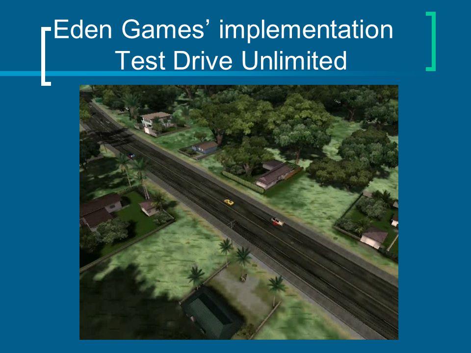 Eden Games implementation Test Drive Unlimited