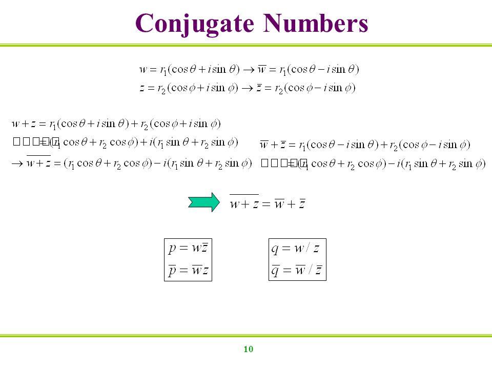 10 Conjugate Numbers