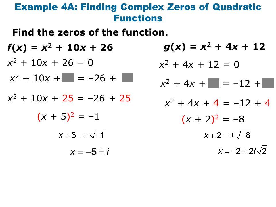 Quadratic Function Examples of Quadratic Functions x 2