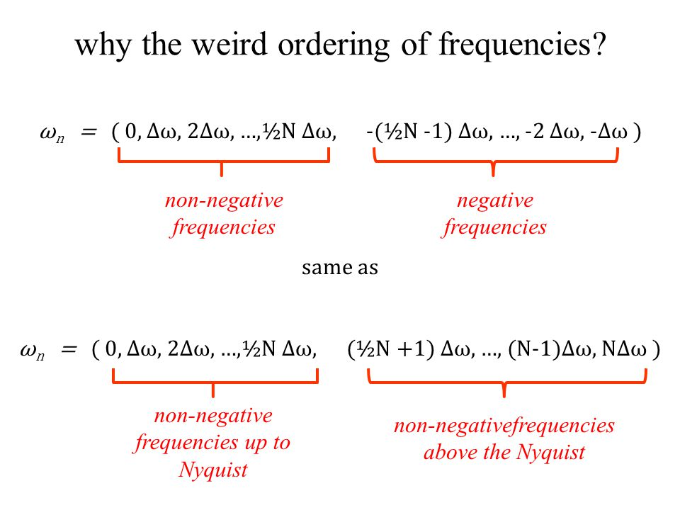 why the weird ordering of frequencies.