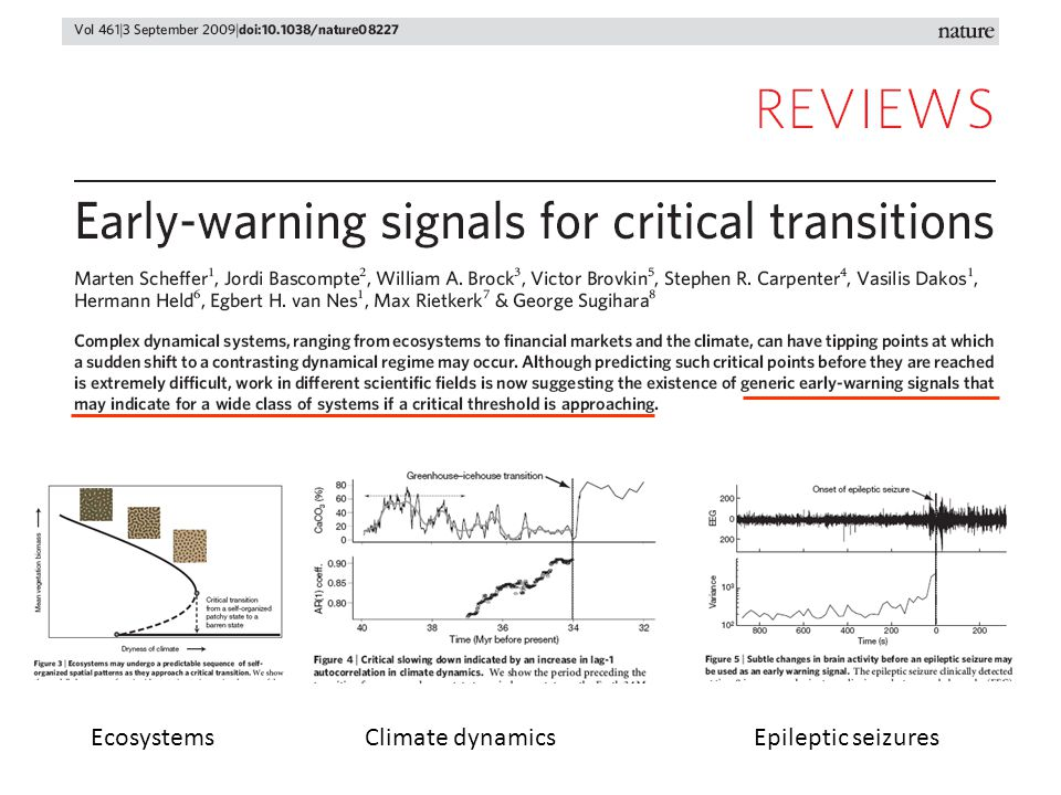 Climate dynamicsEcosystemsEpileptic seizures