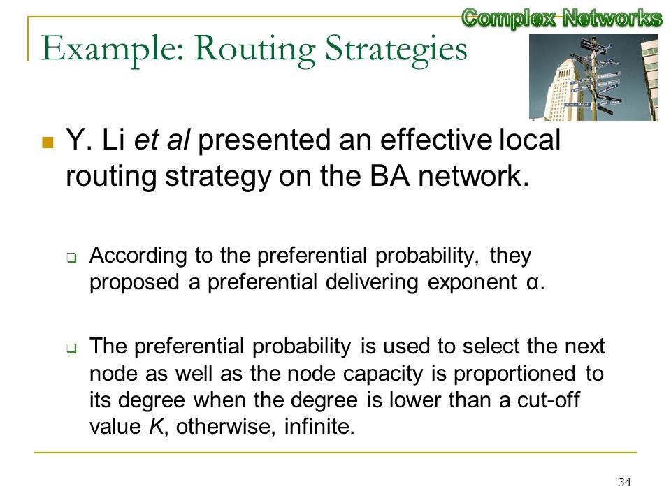 Example: Routing Strategies Y.