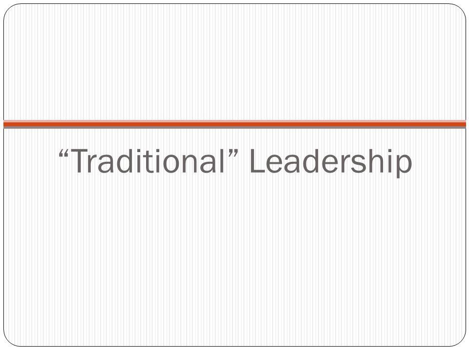 Traditional Leadership