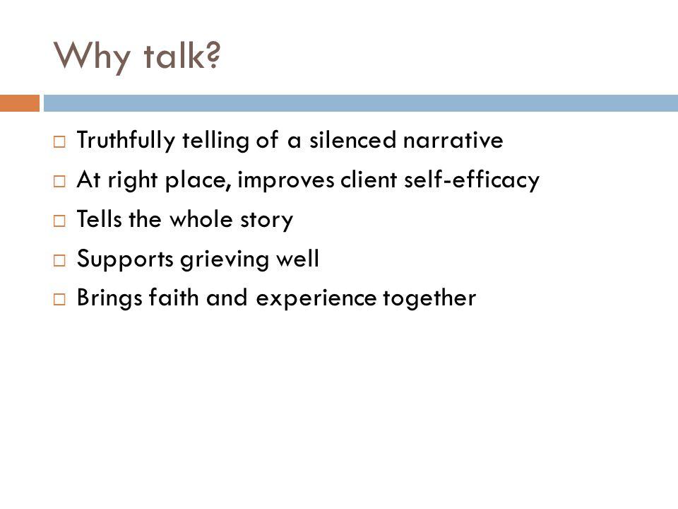 Why talk.