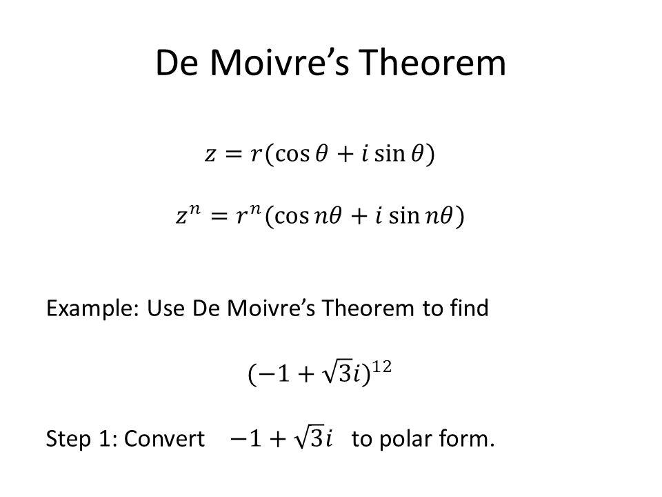 De Moivres Theorem