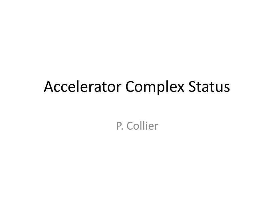 Accelerator Complex Status P. Collier